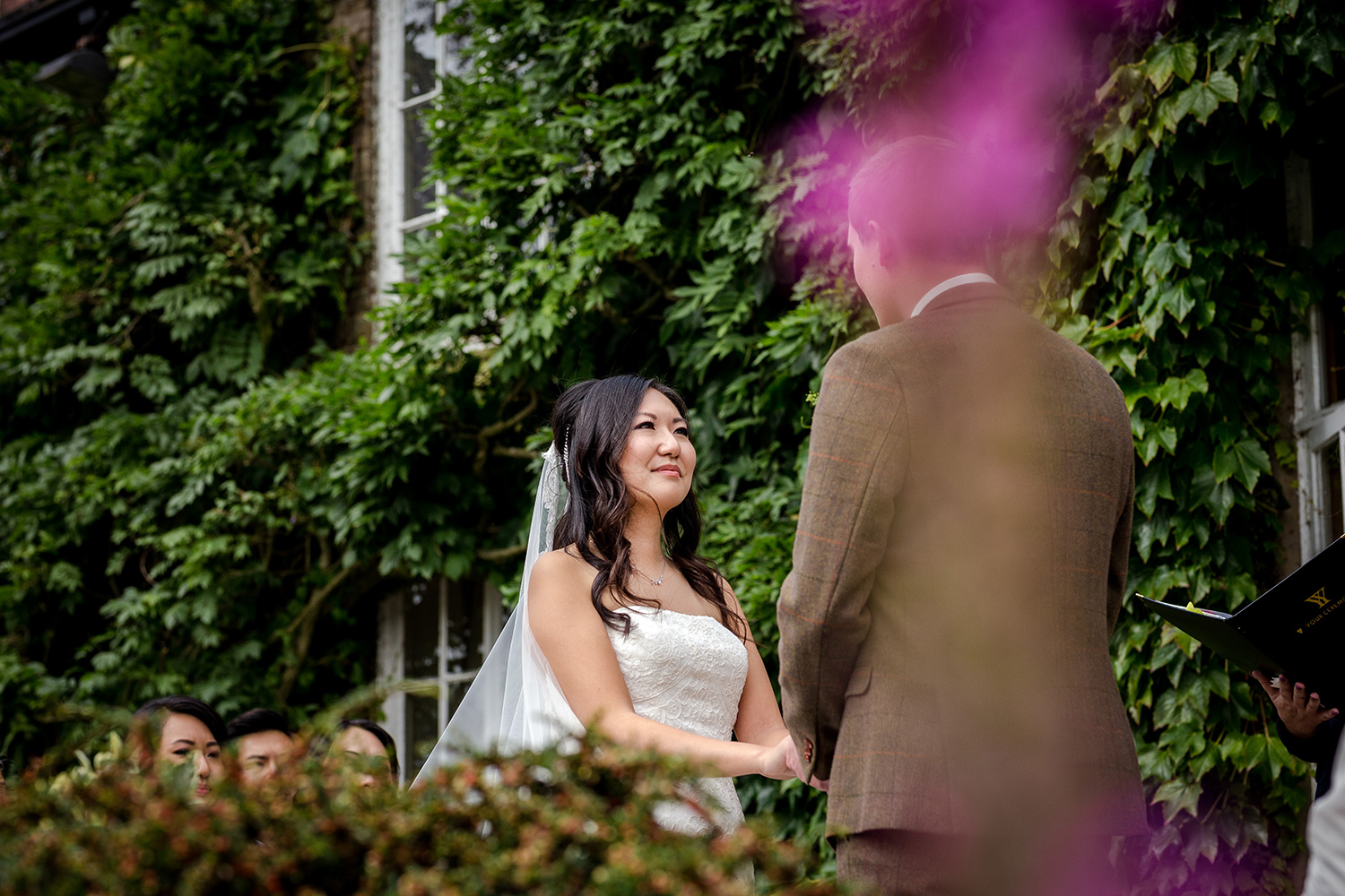 Outdoor ceremony at a Hilltop Country House Wedding