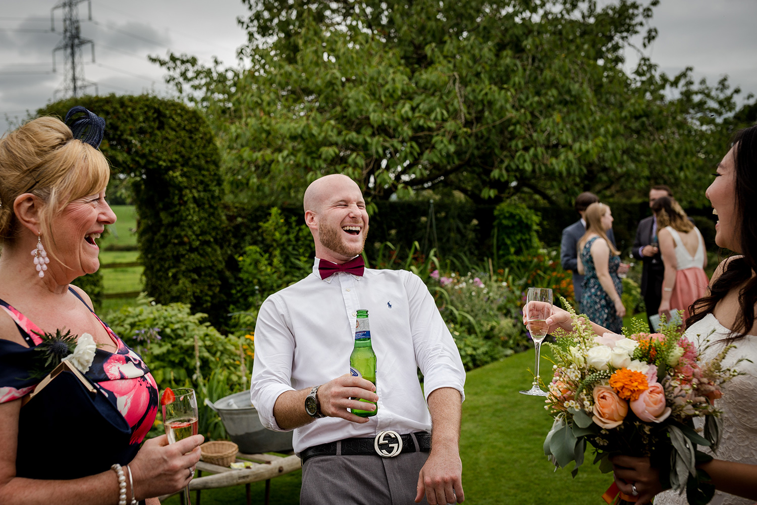 Wedding guests at a Hilltop Country House Wedding