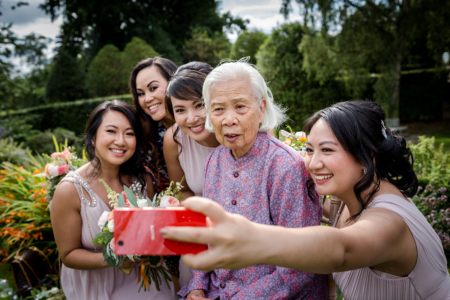 Selfie with the brides grandmother at Hilltop Country House