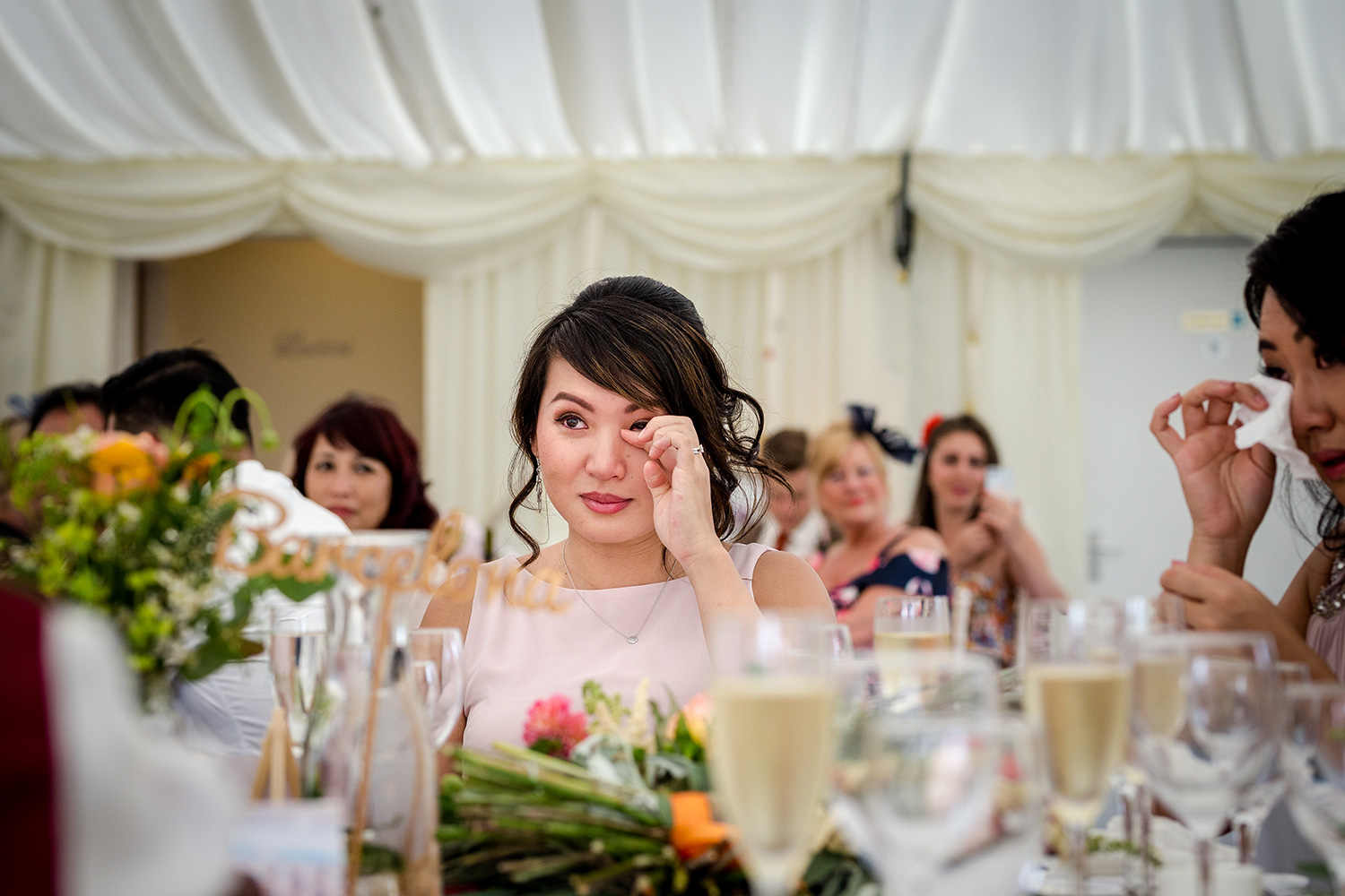The speeches at a Hilltop Country House Wedding