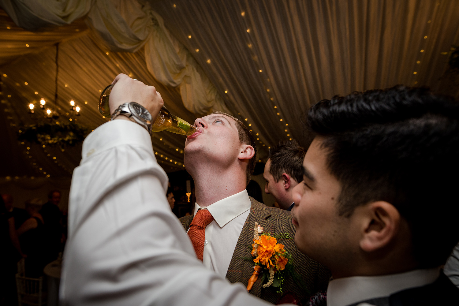 Reception at a Hilltop Country House Wedding