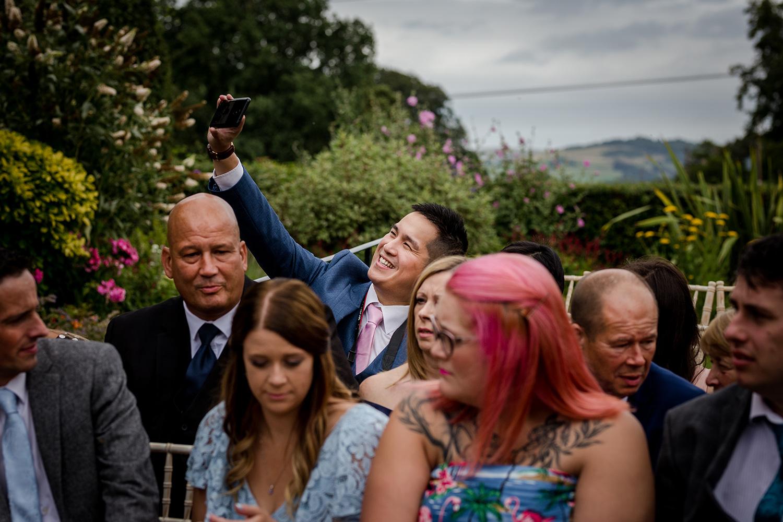 Wedding ceremony selfie