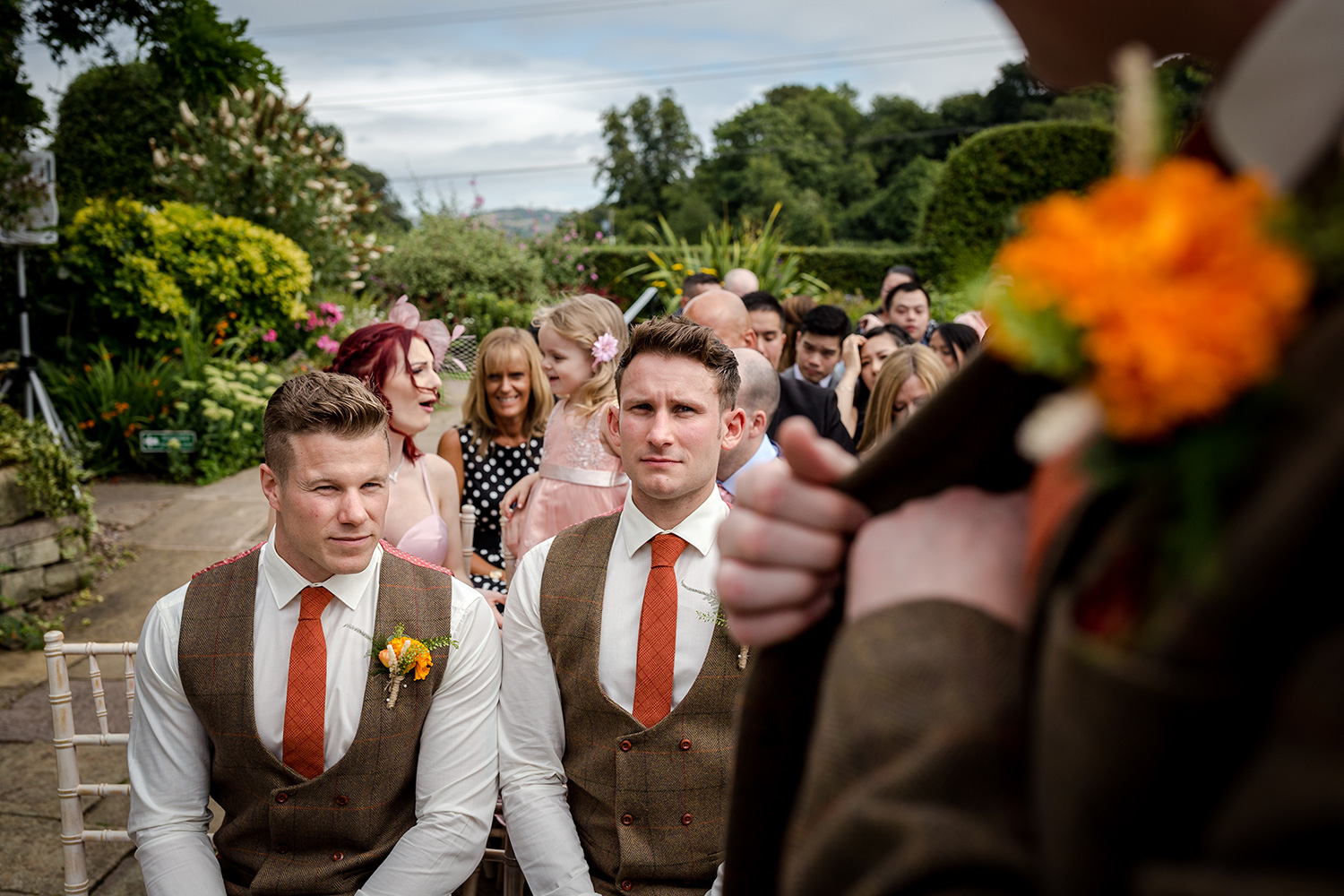 The groom during a Hilltop Country House Wedding