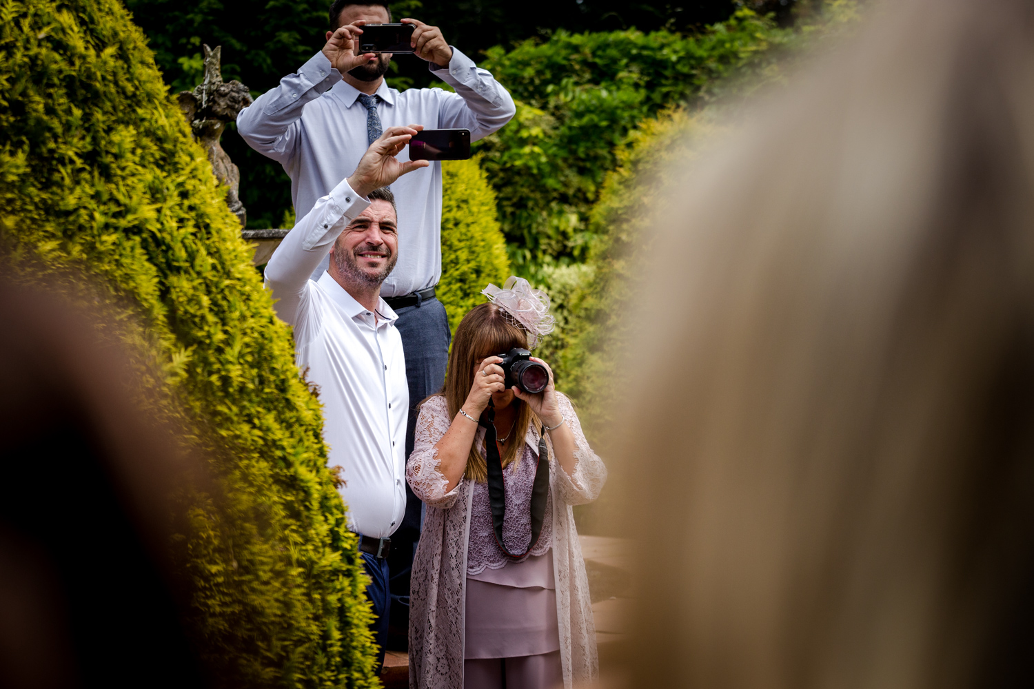 The bridal party at Nunsmere Hall in Cheshire