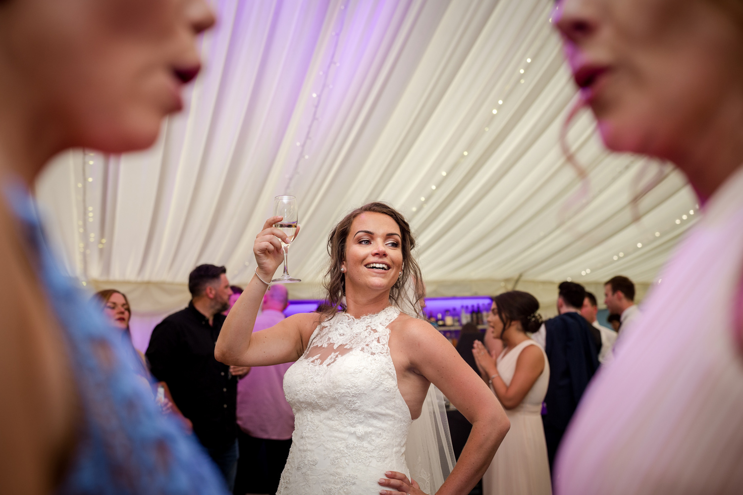 Guests on the dance floor at a Nunsmere Hall Wedding Reception