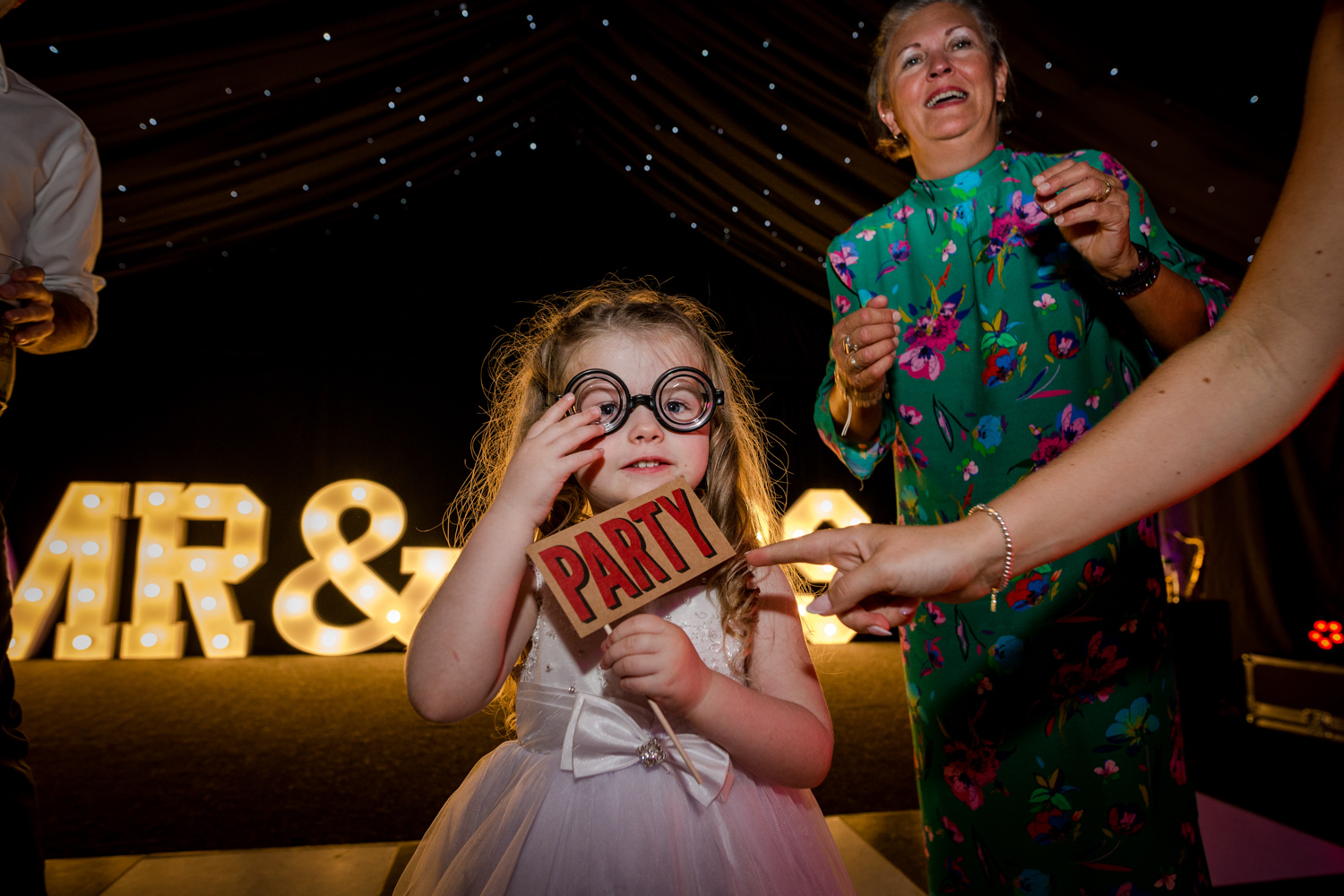 Party time during a Nunsmere Hall Wedding Reception
