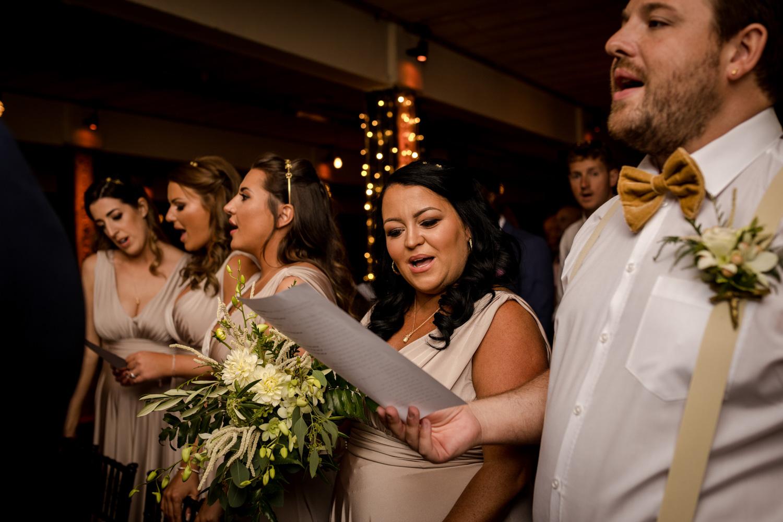 Victoria Warehouse Wedding guests