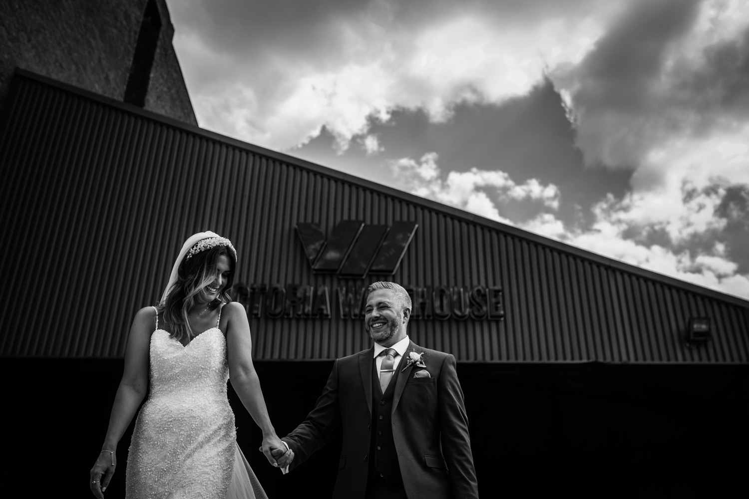 Victoria Warehouse Wedding portraits