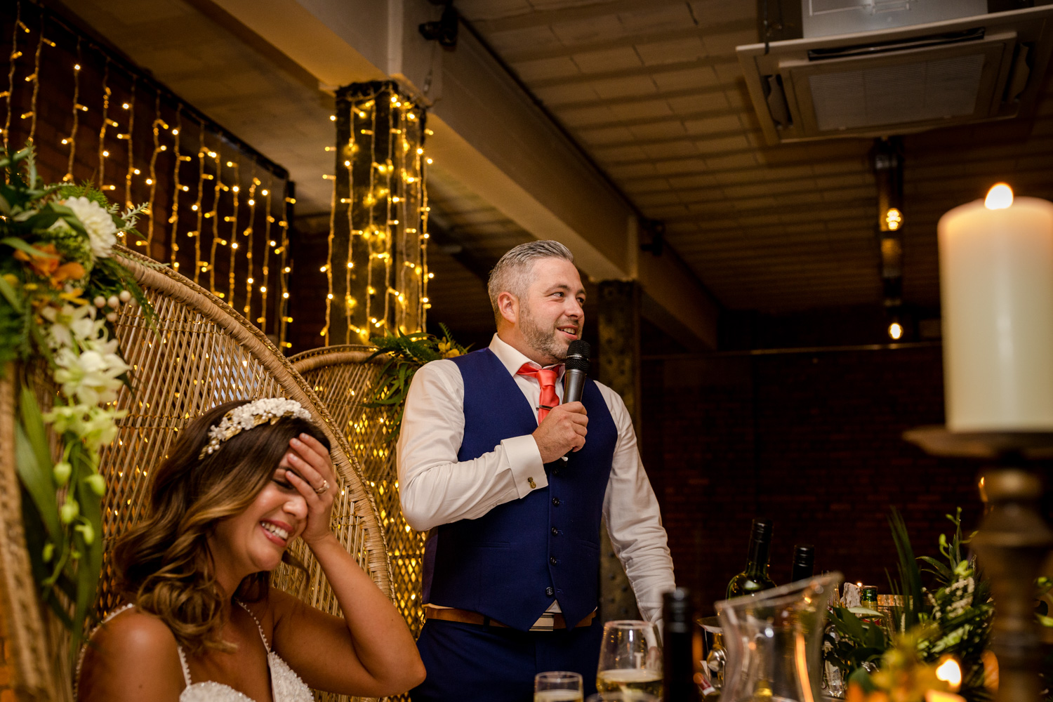 The groom speech at his Victoria Warehouse Wedding