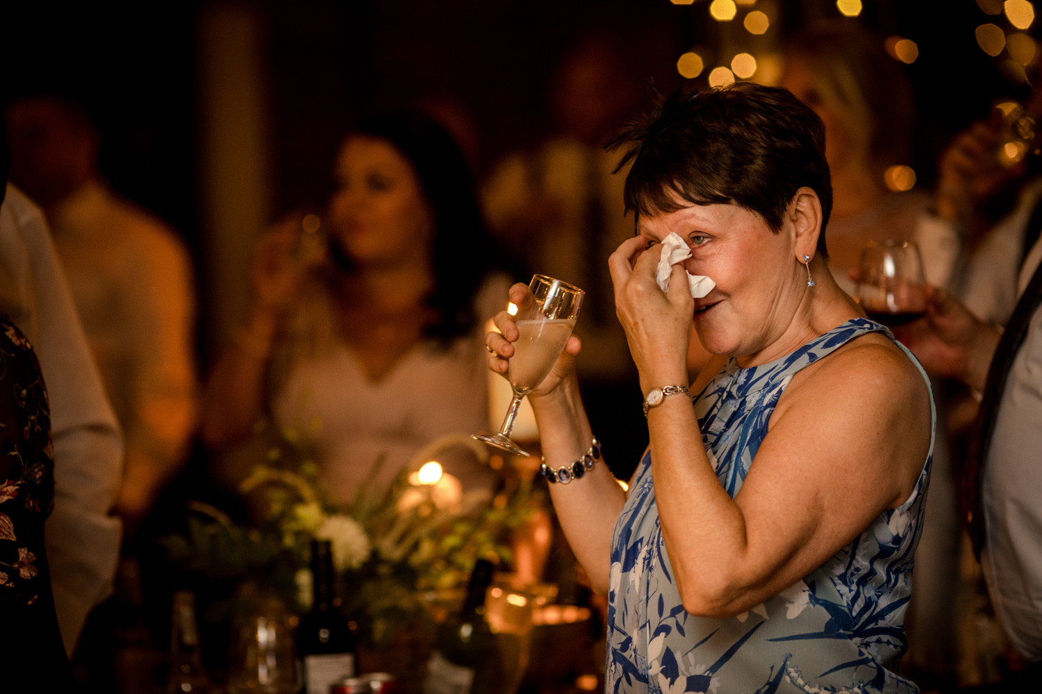 Mother of the groom tears