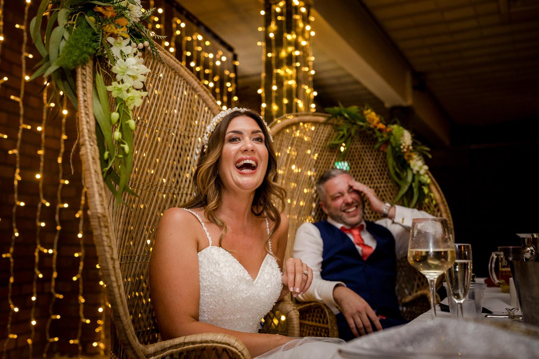 Wedding toast at a Victoria Warehouse Wedding