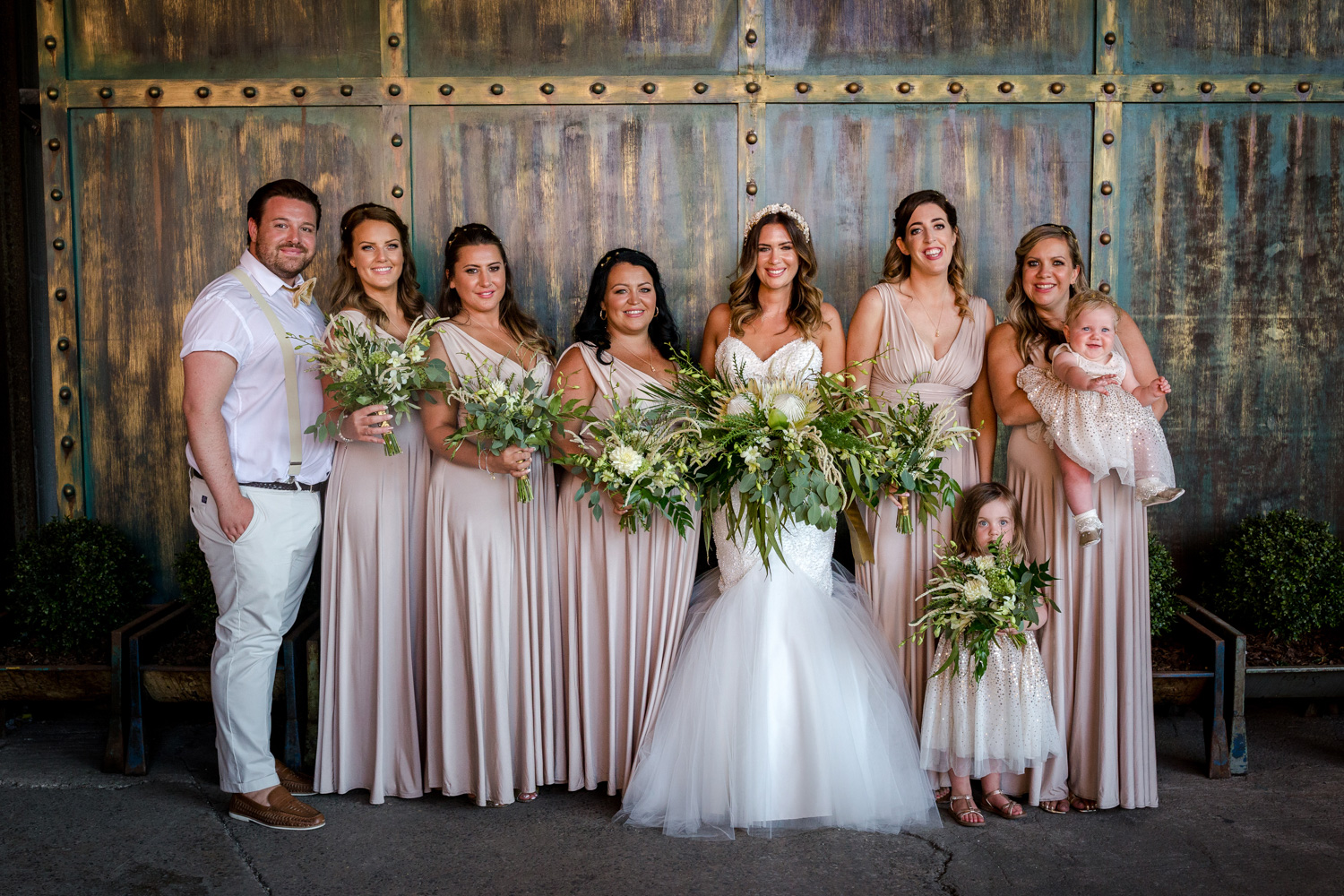 The bride mingles with her guests