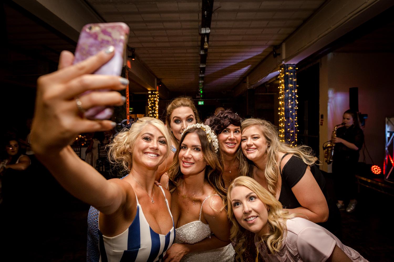 Boho bride at a Victoria Warehouse wedding