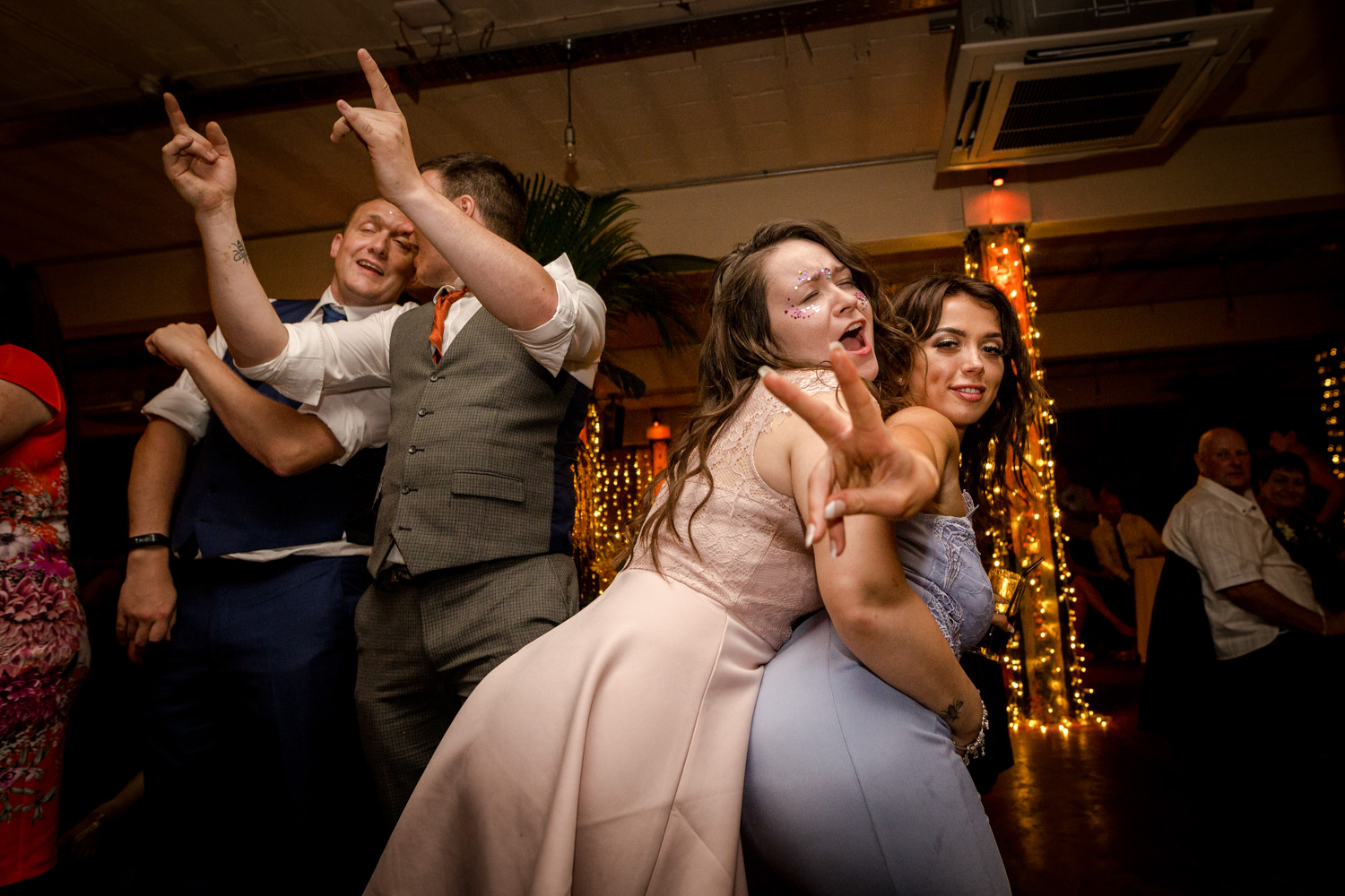 Wedding reception at Victoria Warehouse in Manchester