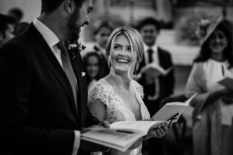 Bride and groom during their Villa Catignano wedding