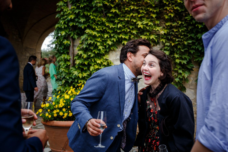 Wedding guests at Villa Catignano