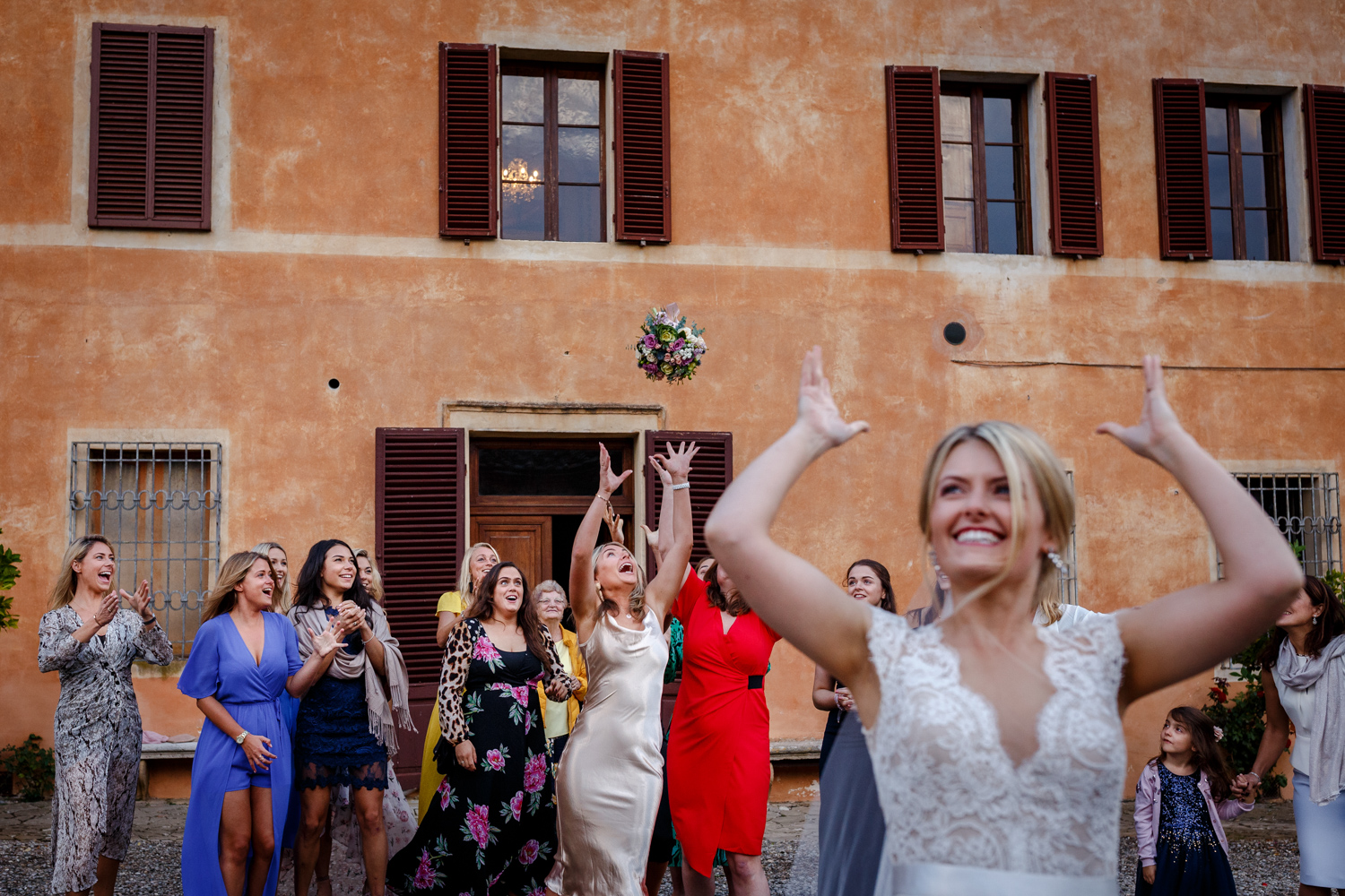 Villa Catignano wedding reception in Siena