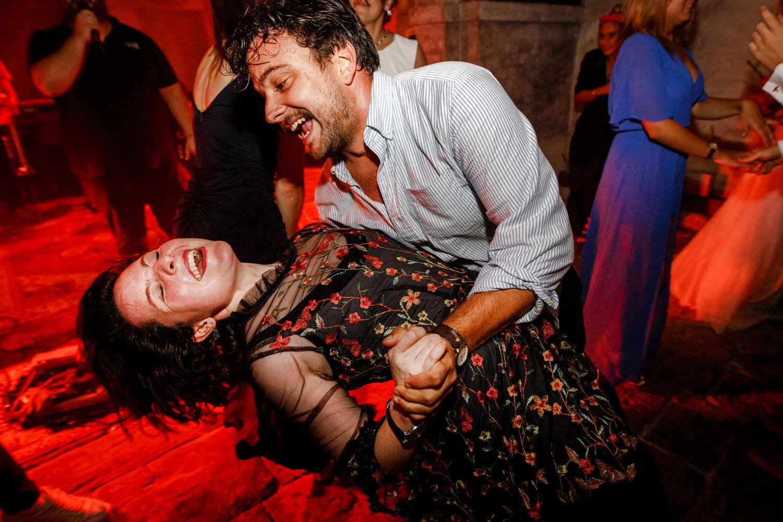 Dancing at a Villa Catignano wedding