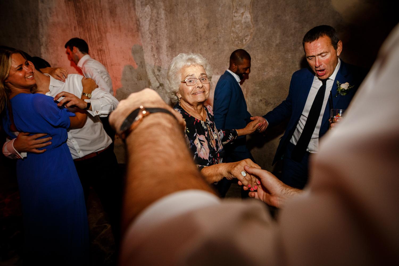 Guests partying at a Villa Catignano wedding