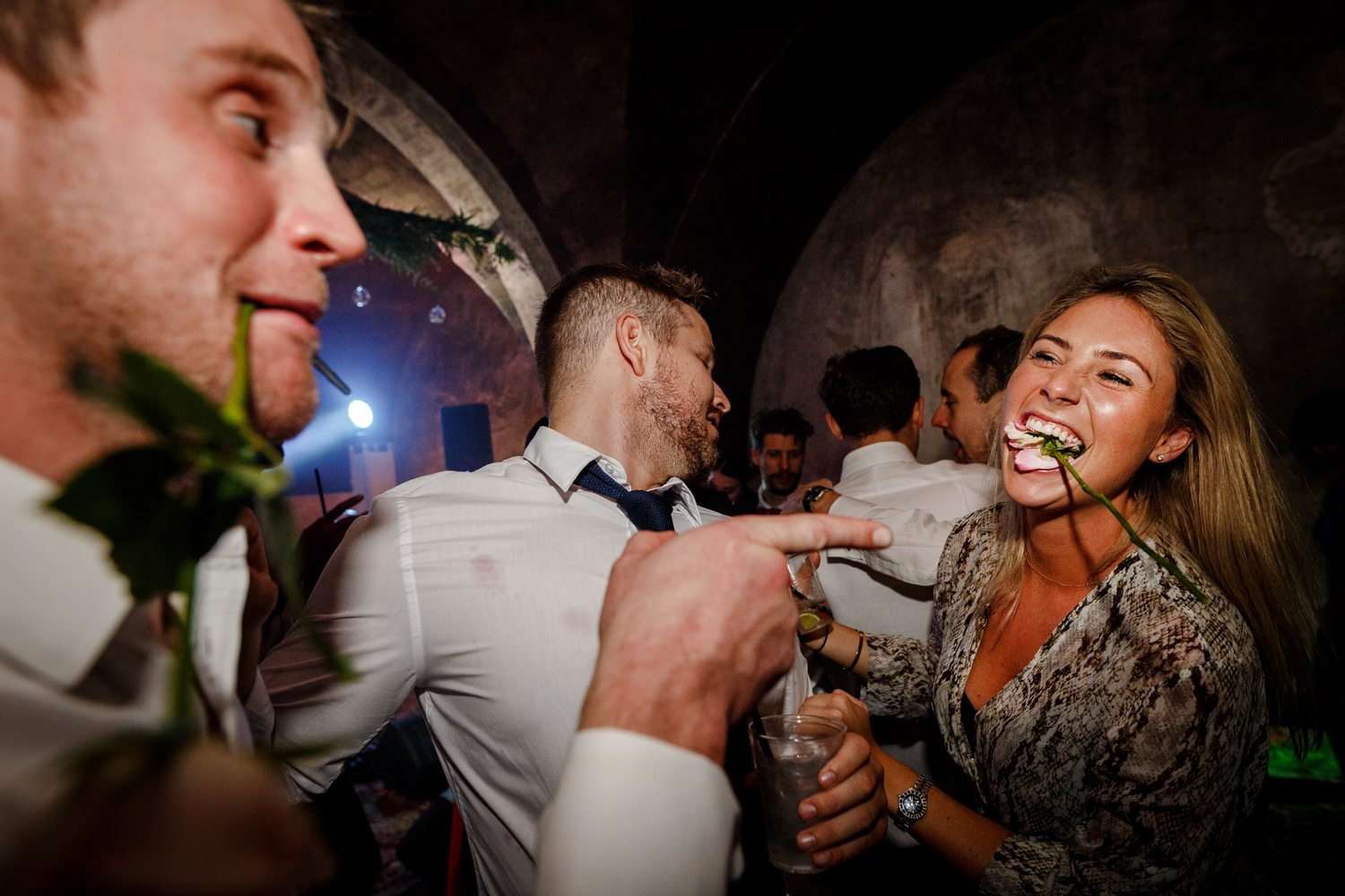 Party time during a Villa Catignano wedding