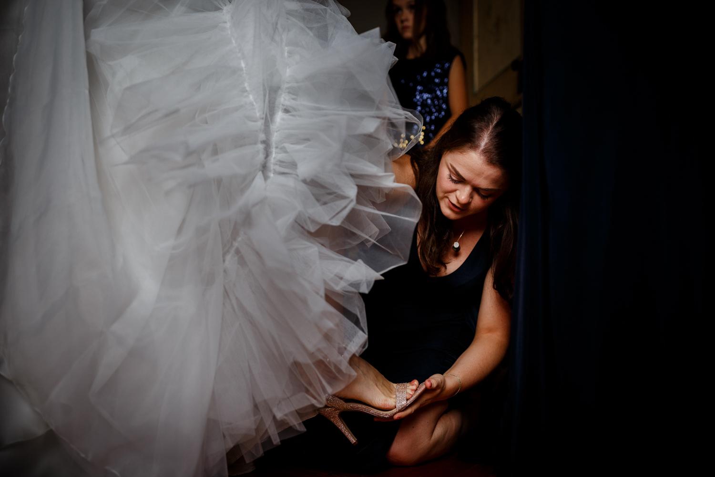 The bride at a Villa Catignano wedding
