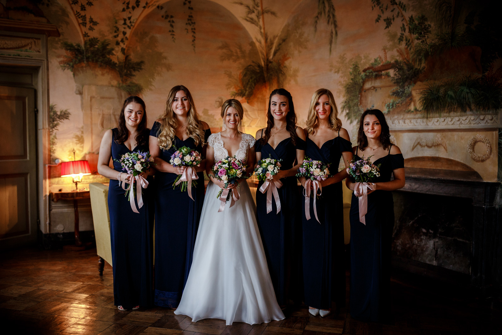 The bridal party at Villa Catignano in Siena
