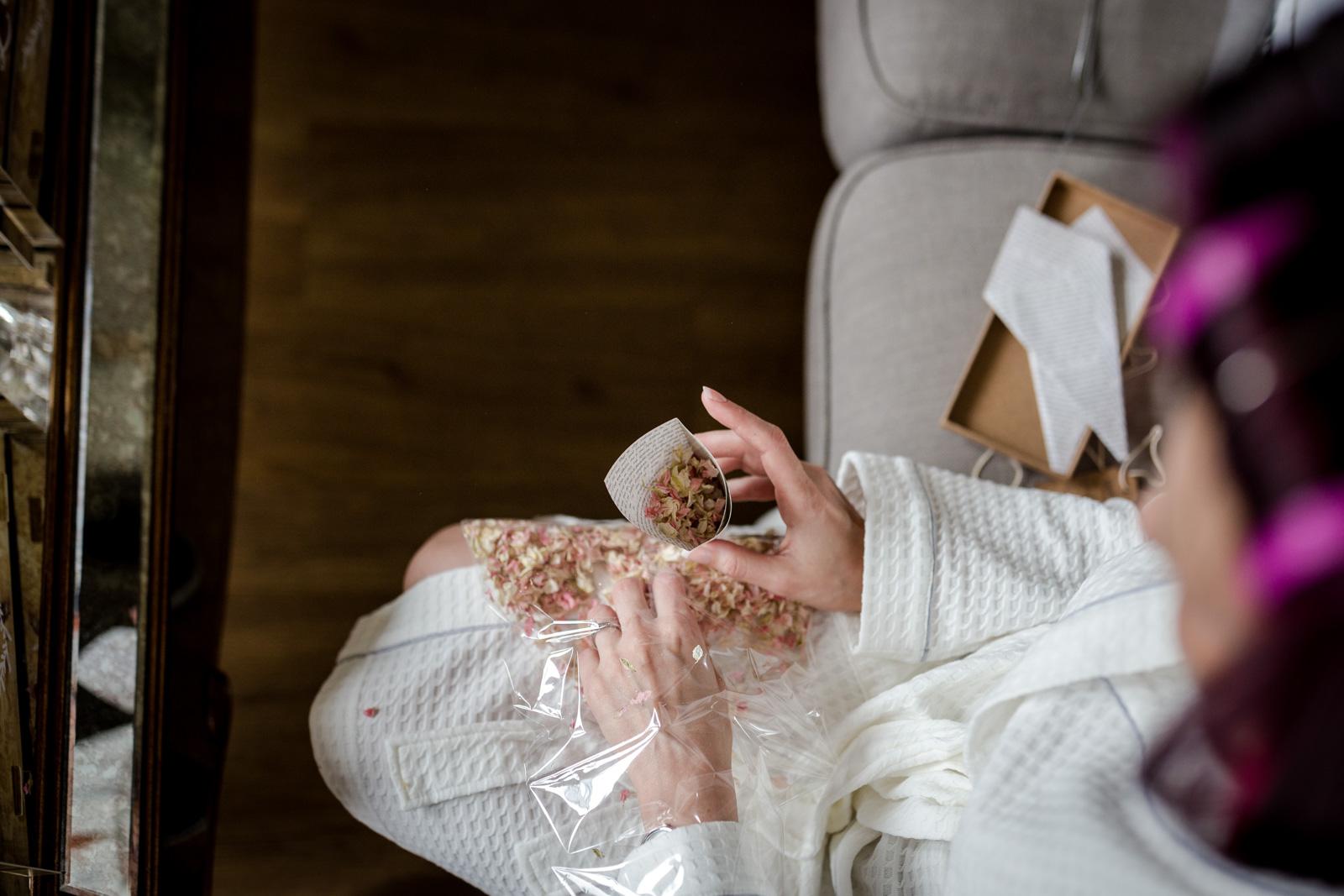 The bridal prep at Ashfield House
