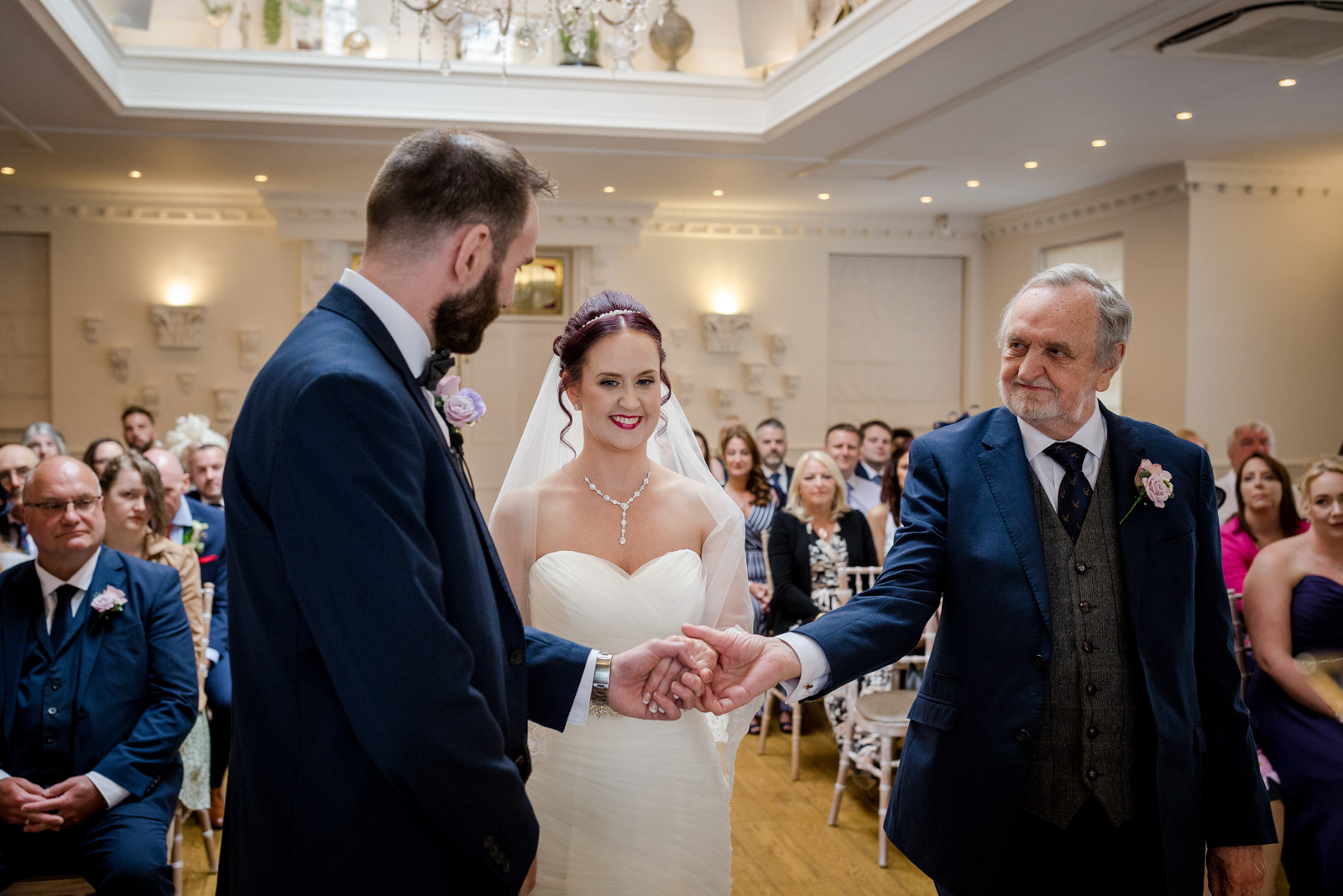 Guests at an Wedding Ceremony at an Ashfield House Wedding