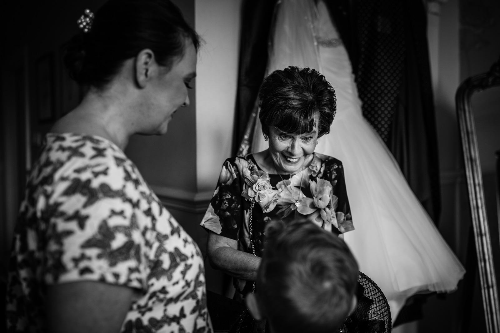 Bridal prep during an Ashfield House Wedding
