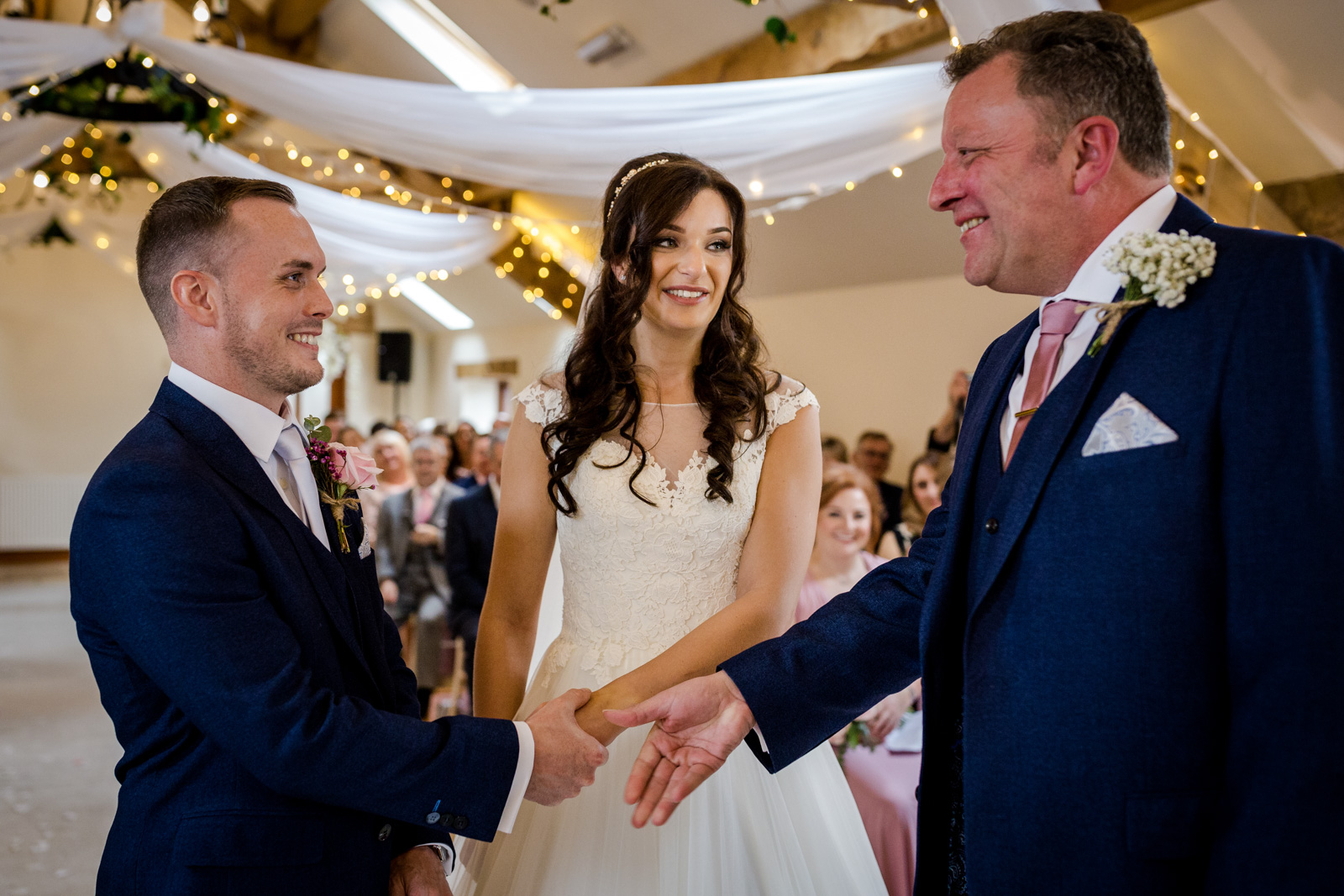 Father of the bride at a Beeston Manor Wedding