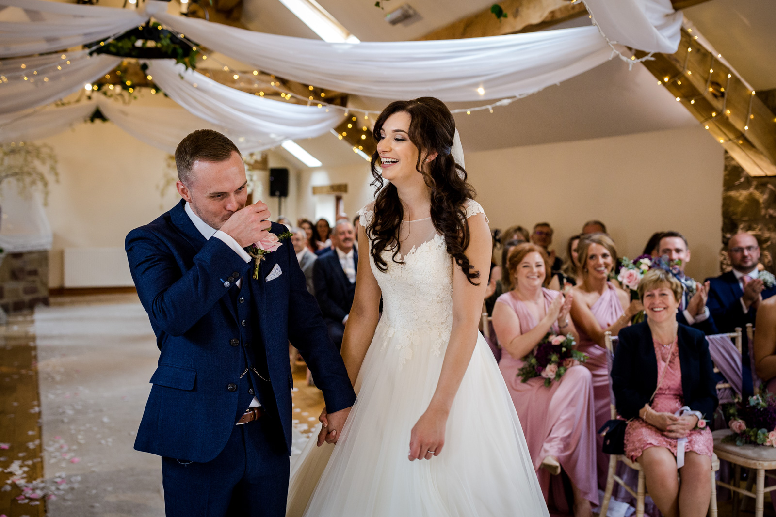 Just married at a Beeston Manor Wedding