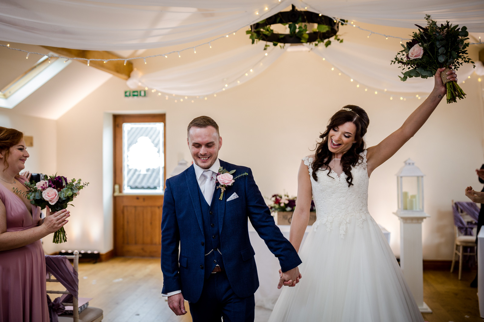 The bride and groom during their Beeston Manor Wedding