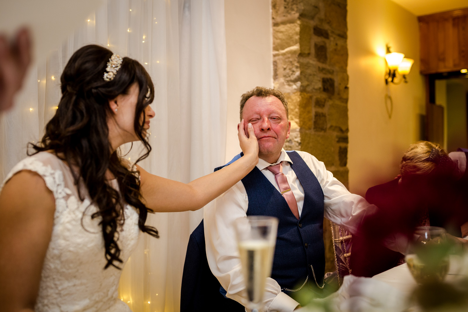 Wedding guests at Beeston Manor