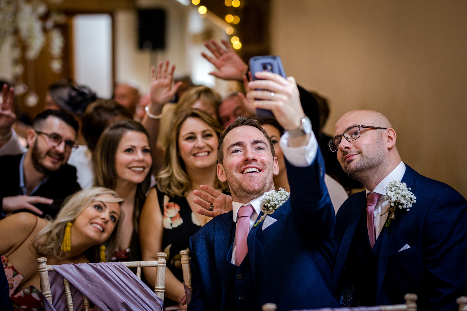 Wedding guests at a Beeston Manor Wedding