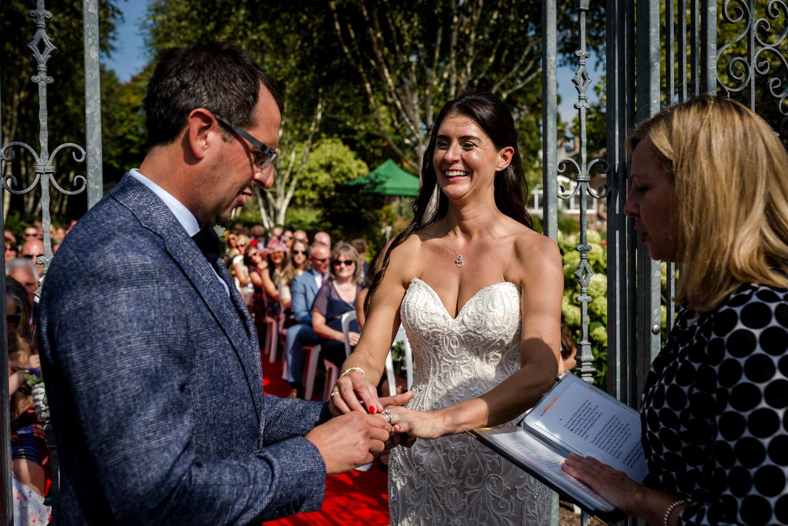 Capesthorne Hall Wedding ceremony