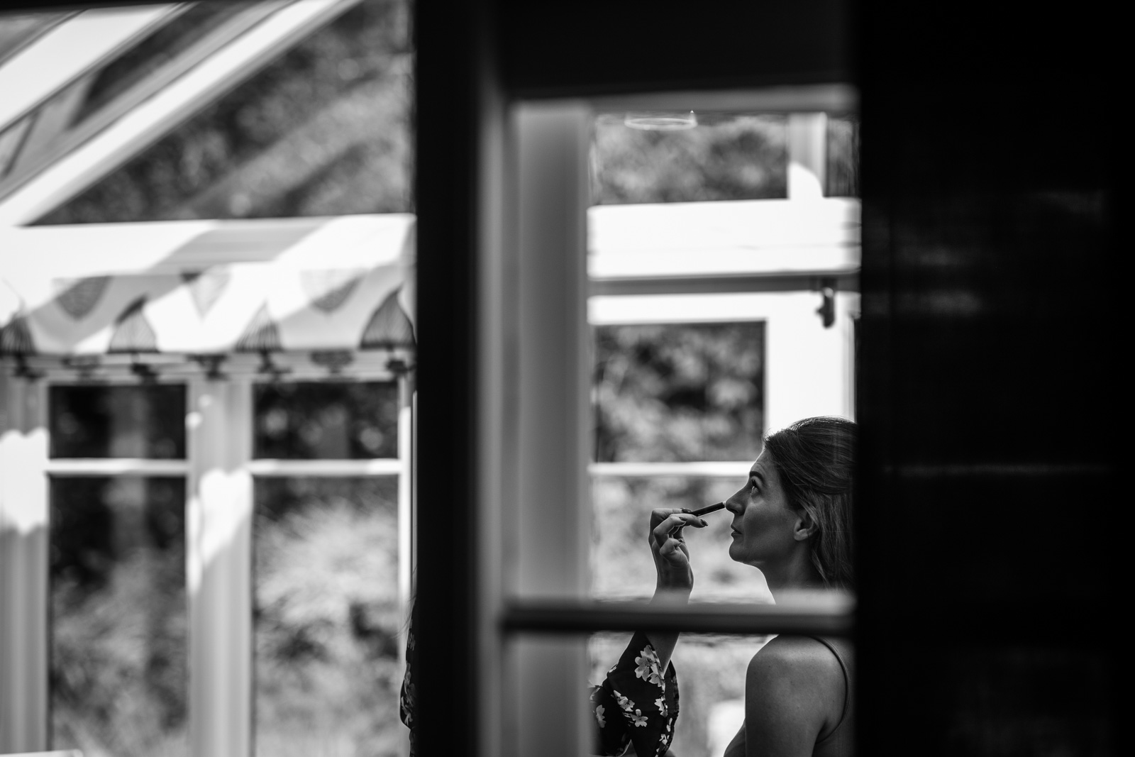 Sam getting ready for her Capesthorne Hall Wedding