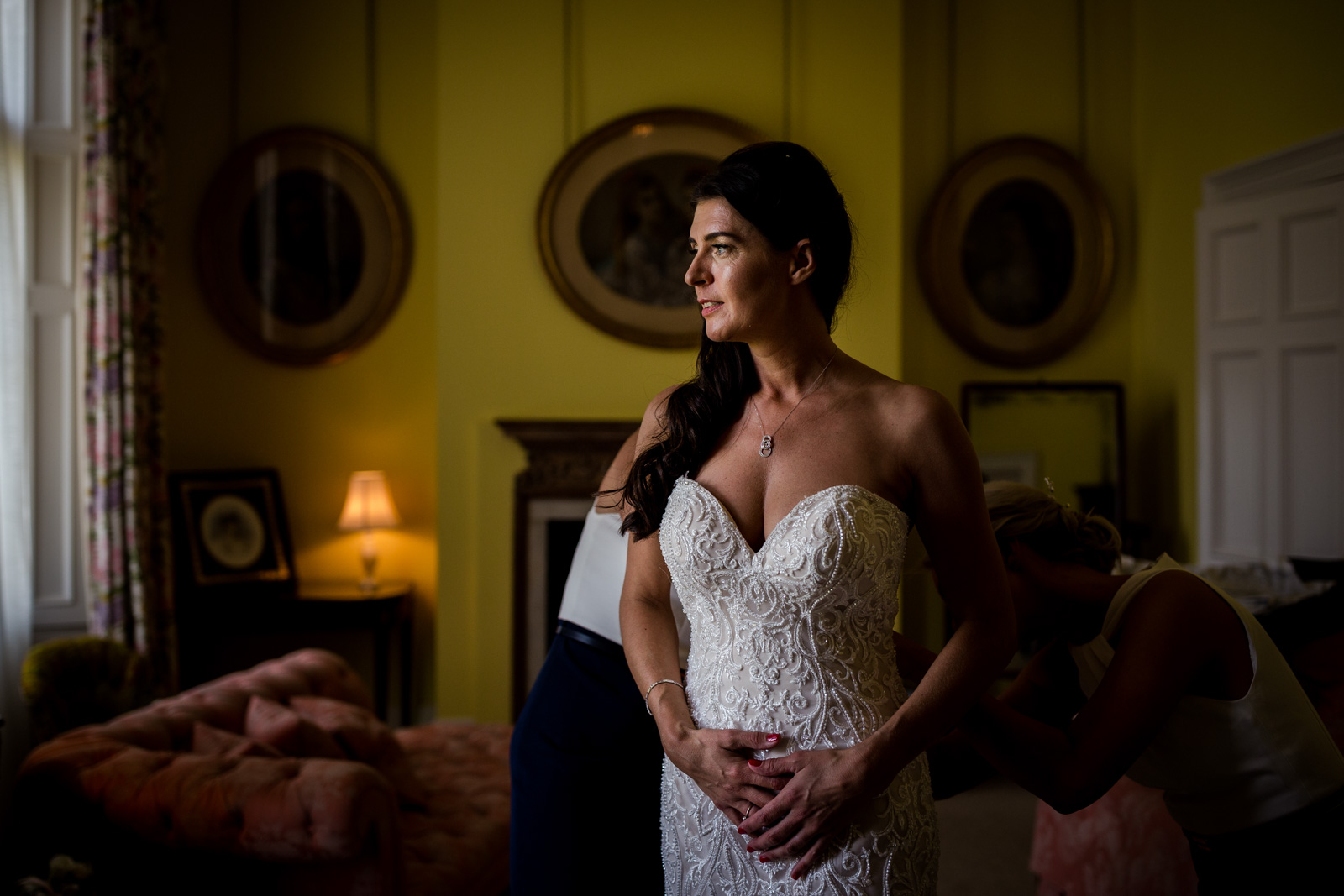 The bride before her Capesthorne Hall Wedding