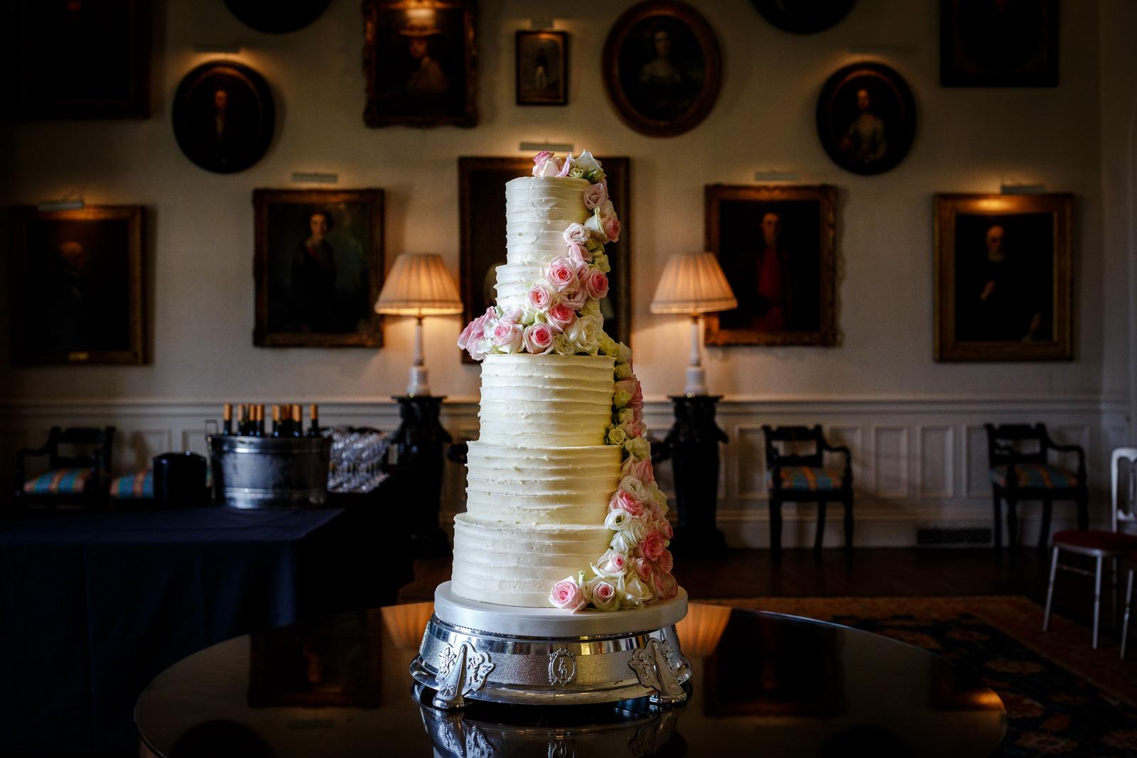 Wedding Cake at a Capesthorne Hall Wedding