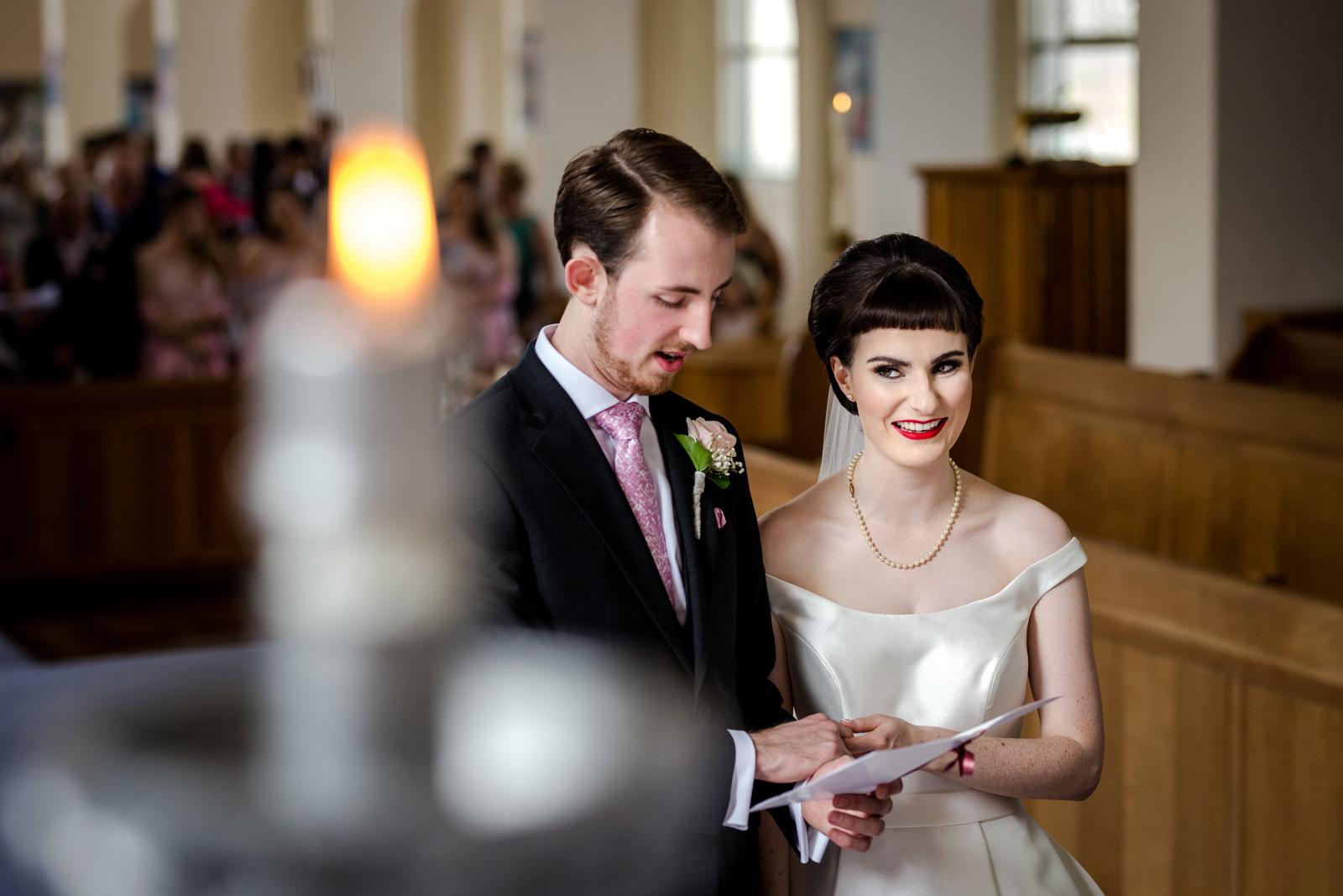 Church wedding in Bury