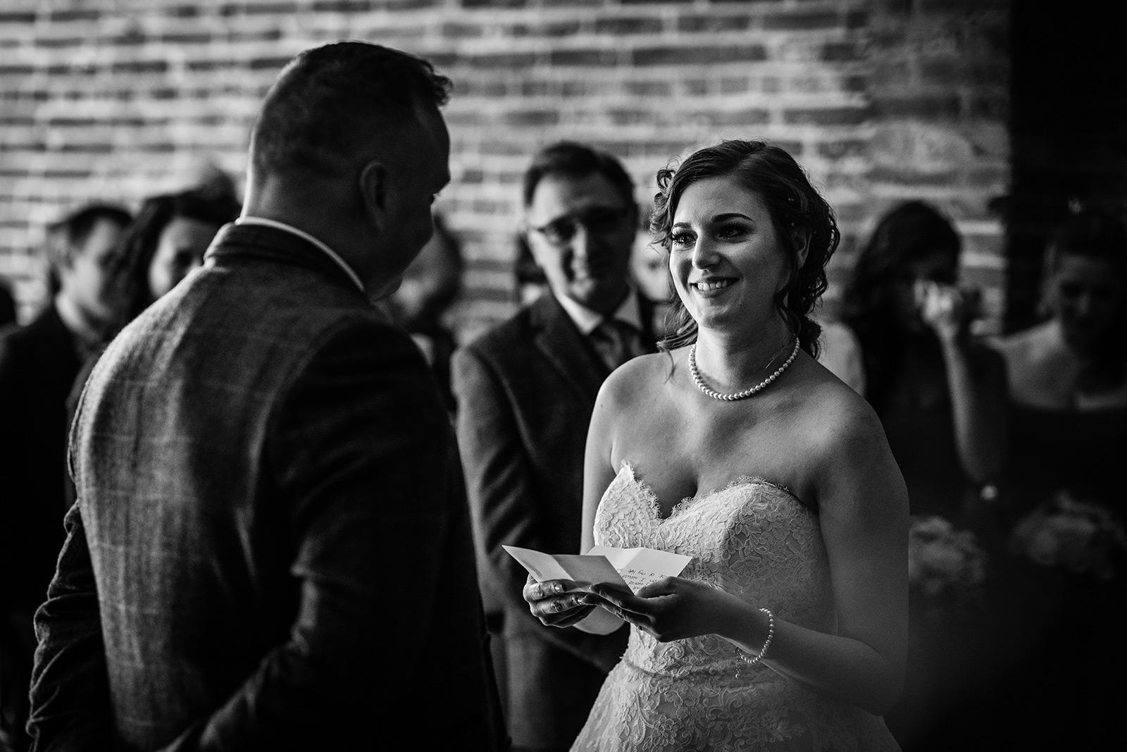 The wedding ceremomny at Hazel Gap Barn