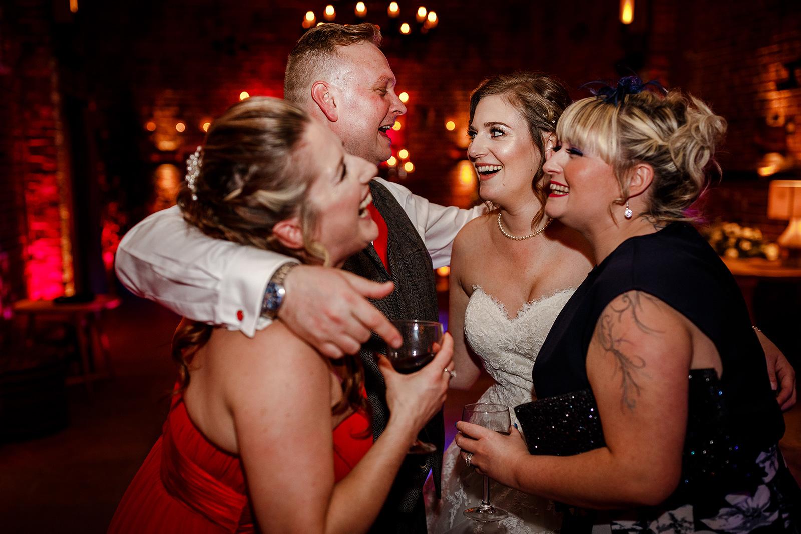 Reception at a Hazel Gap Barn wedding