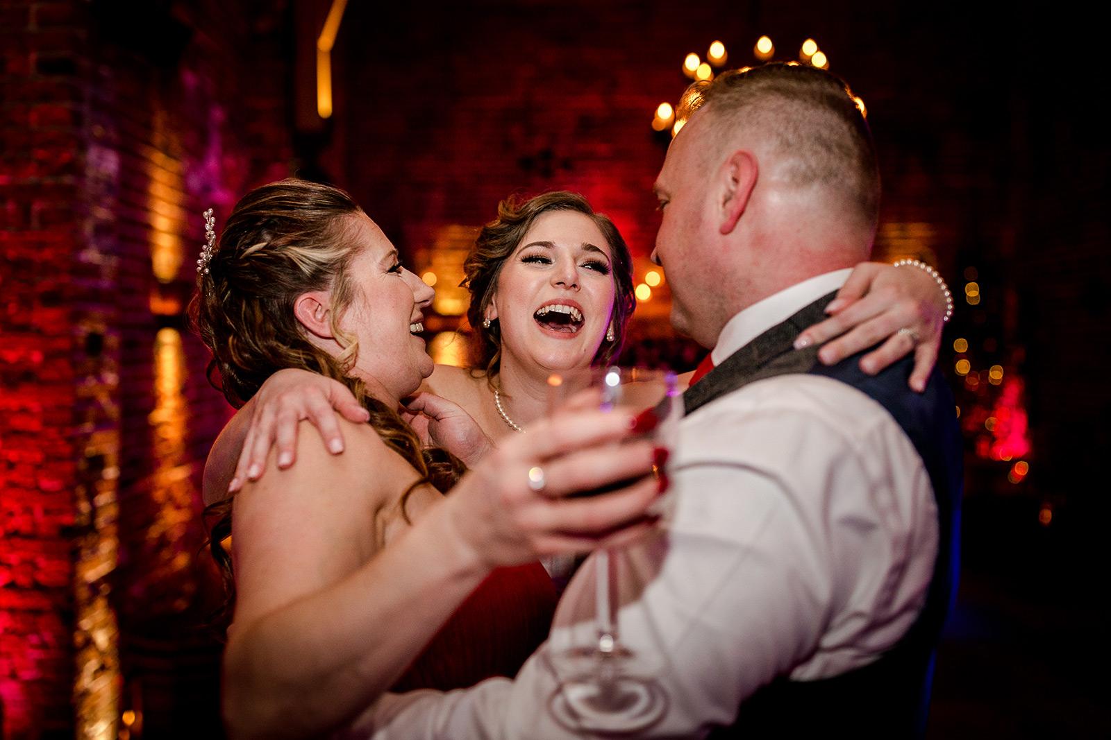 Wedding party at Hazel Gap Barn