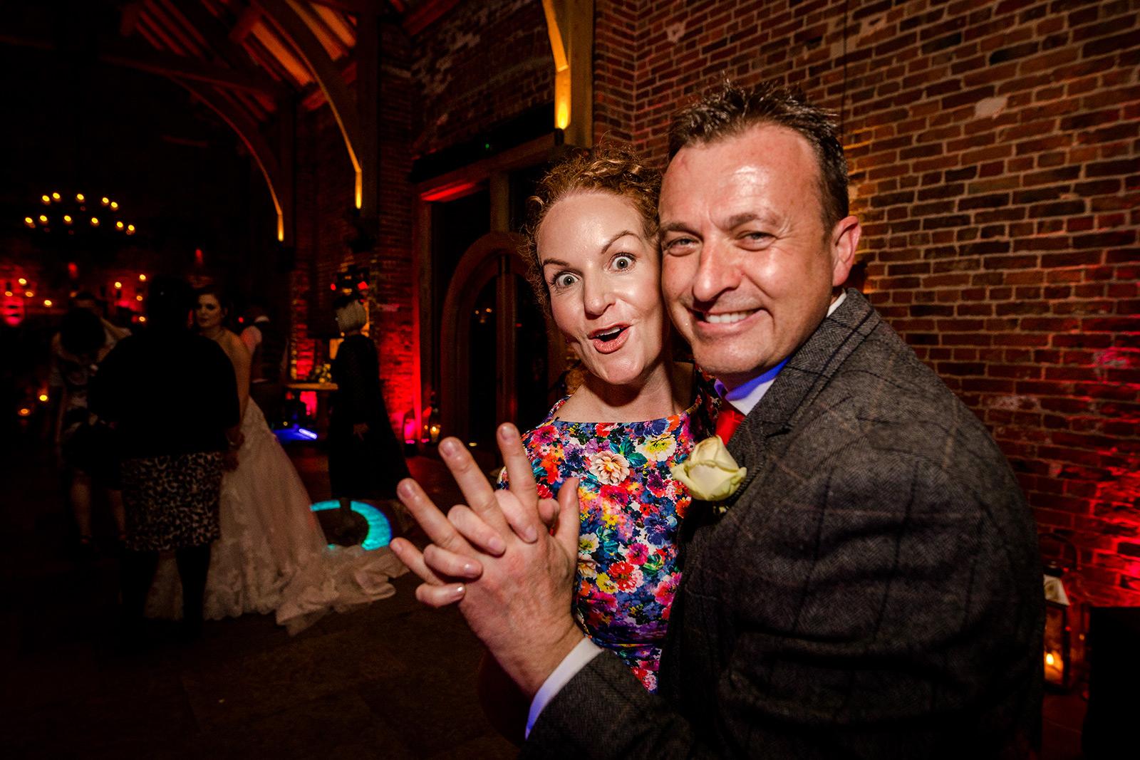 Wedding guests at Hazel Gap Barn