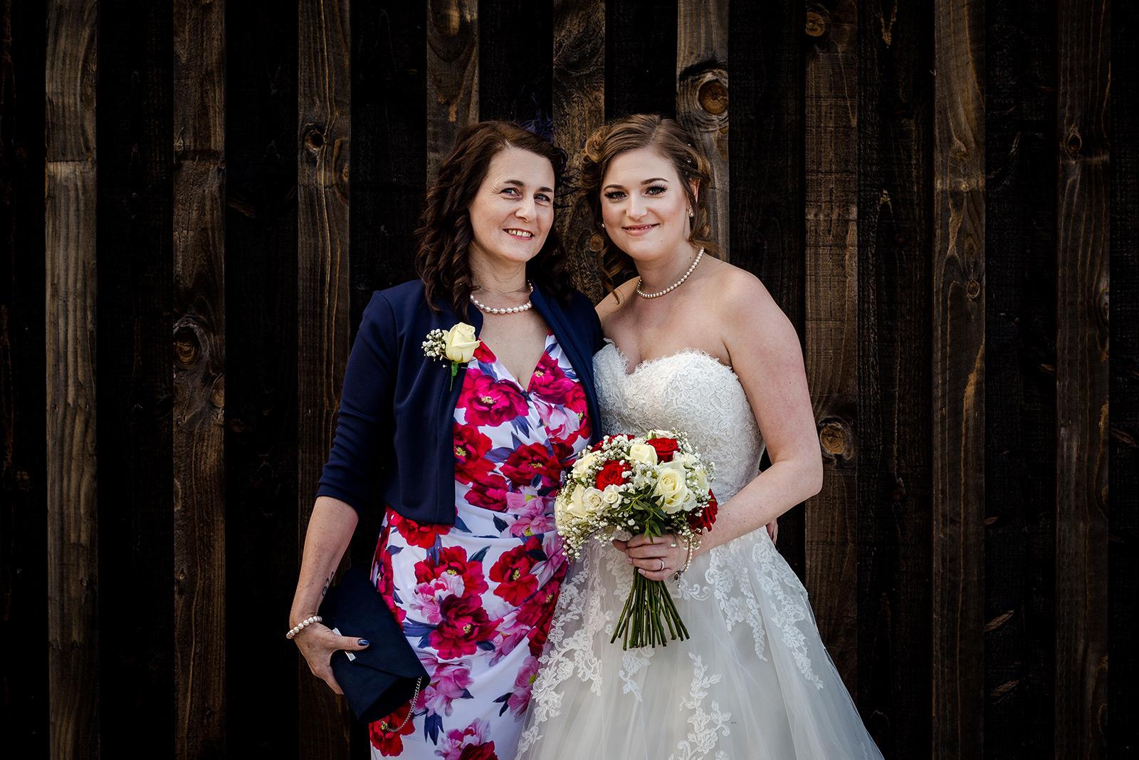 Mother of the bride at Hazel Gap Barn