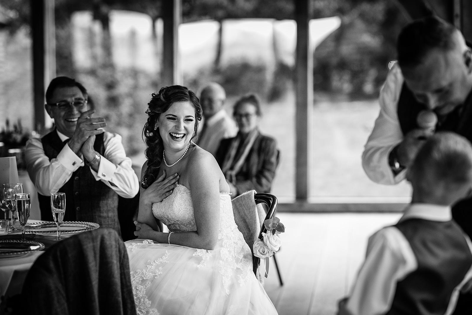 Hazel Gap Barn wedding speeches