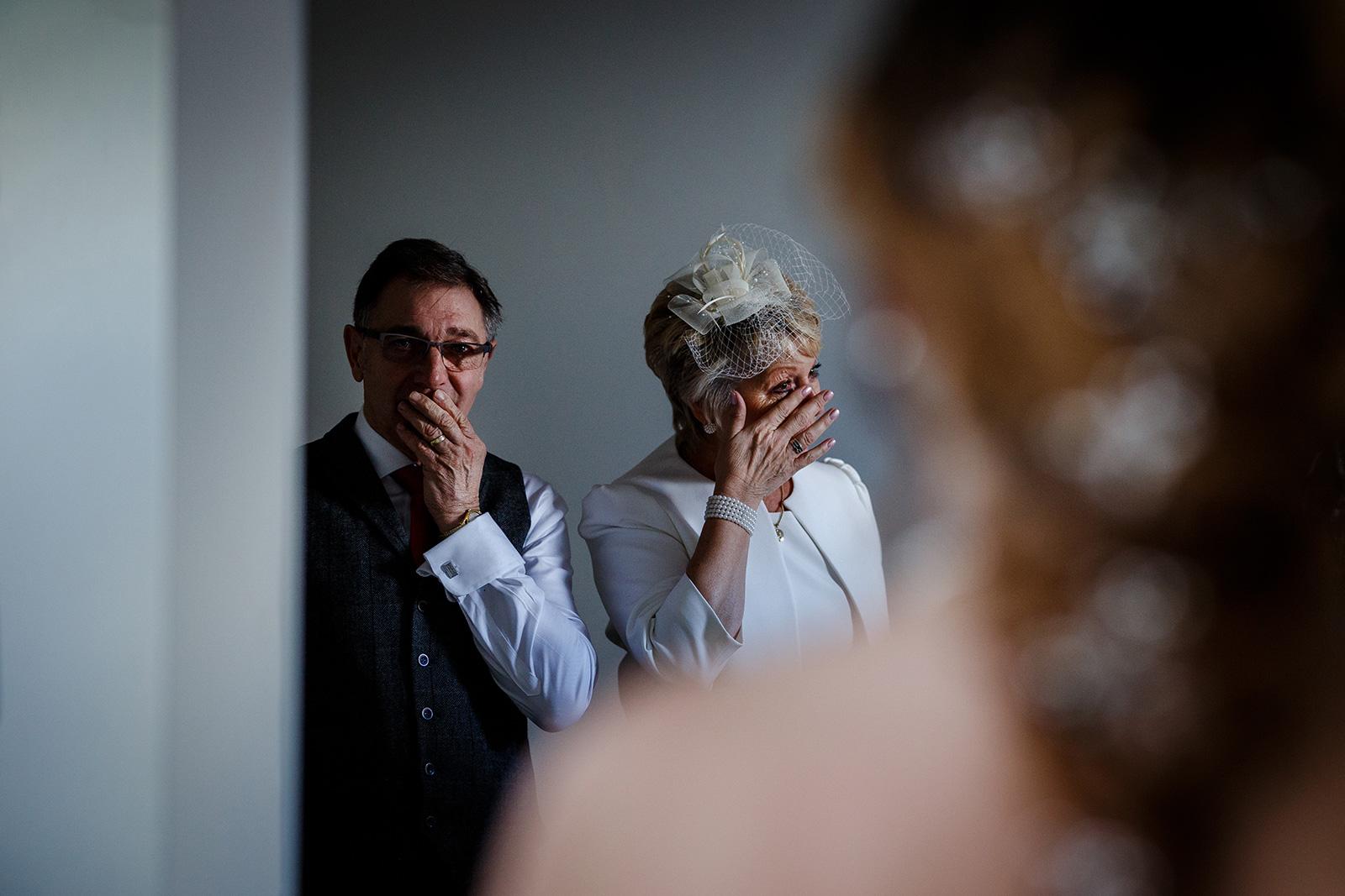Father of the bride during a Hazel Gap Barn Wedding