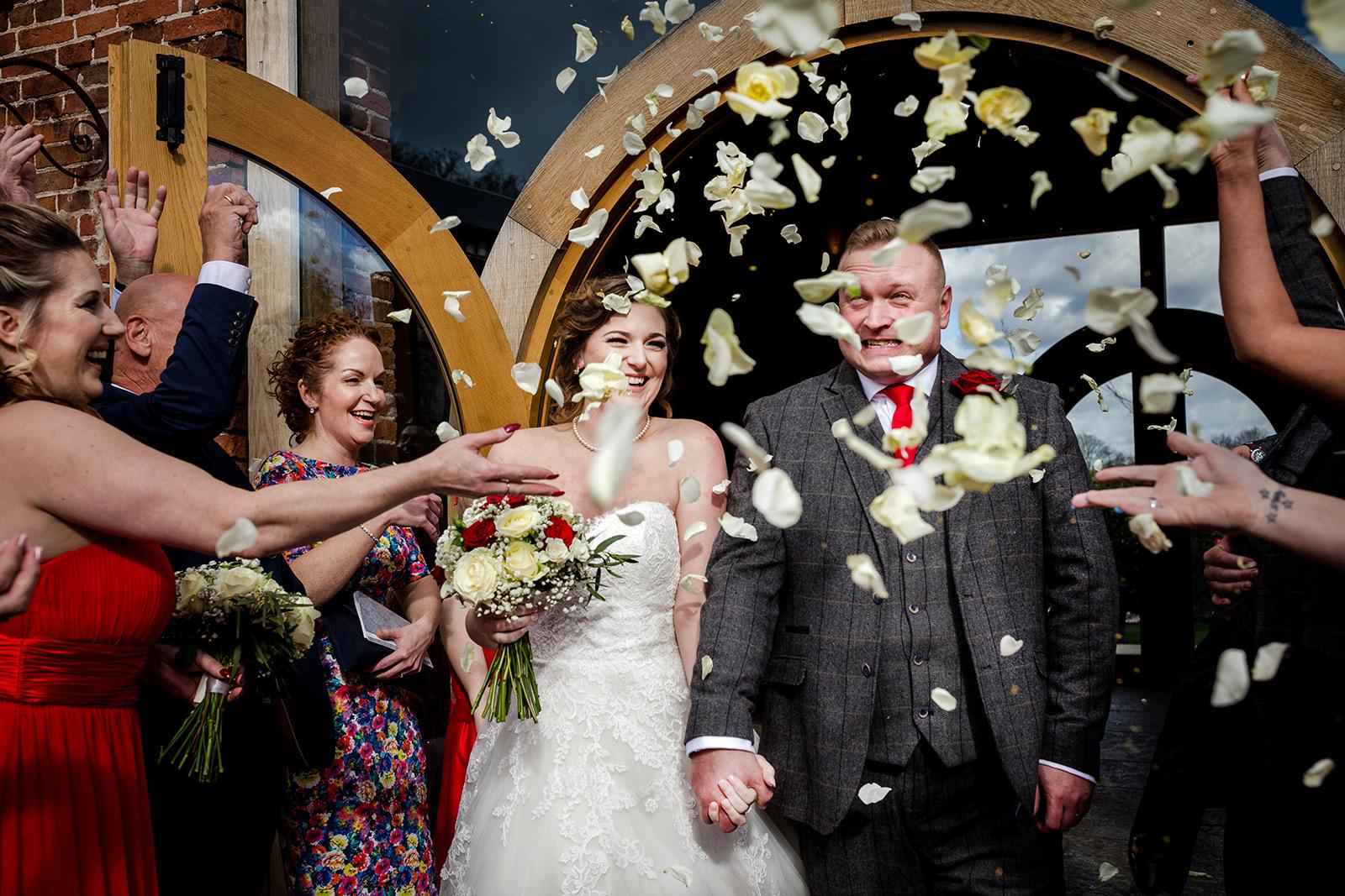 Confetti at a Hazel Gap Barn wedding