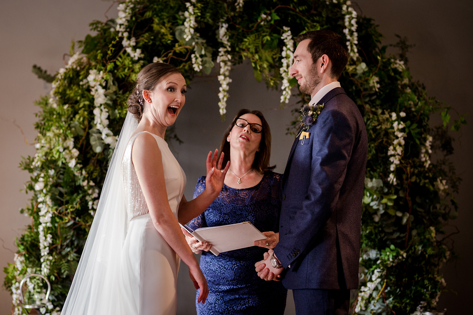 The wedding ceremony at Leaf Manchester