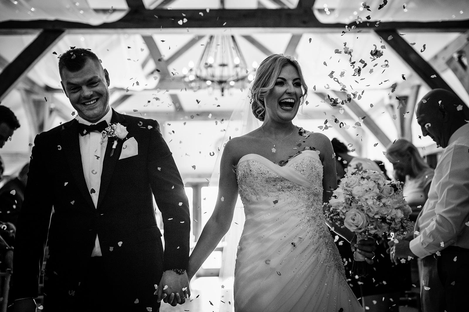Sandhole Oak Barn Wedding guests