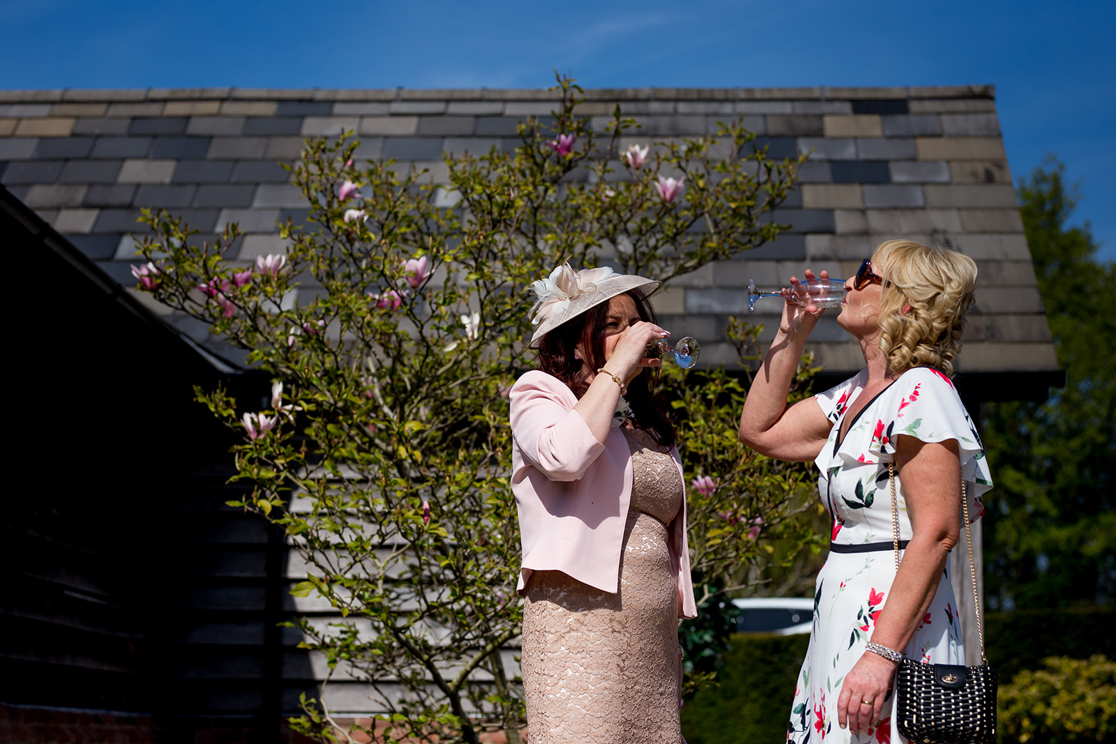 guests at a Sandhole Oak Barn Wedding